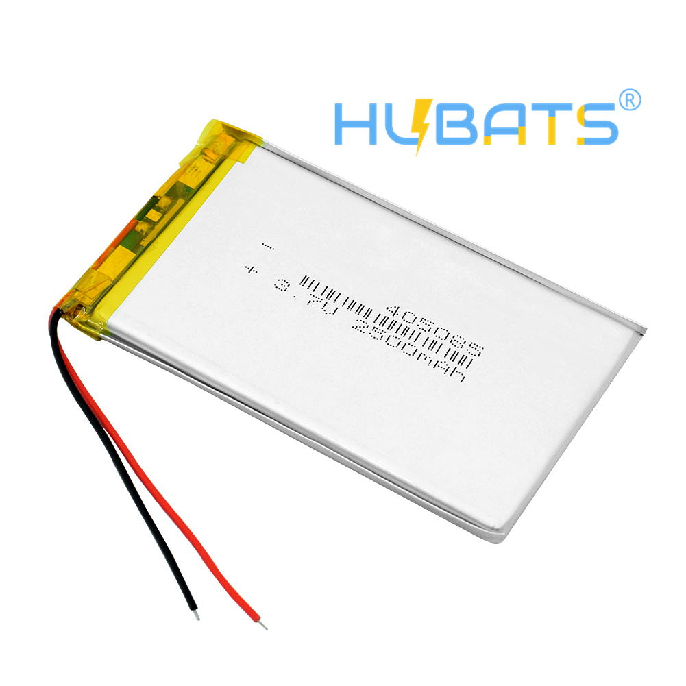 3 7V volt 405085 rechargeable li ion lithium lipolymer 2500mah MP4